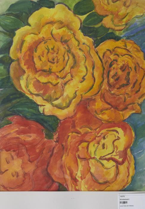 Orangene Blütengesichter