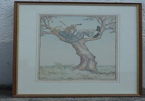 Geiger auf dem Baum