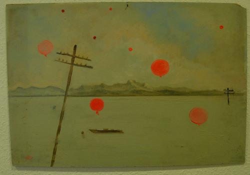 Ballons über einem See