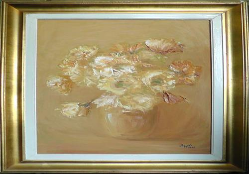 Blumen in vase Pastell II