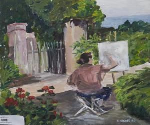 Maler im Garten