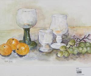 Obst und Gläser