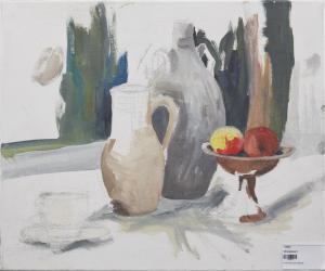 Obstschale und Vasen