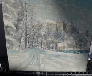 Schloß Stoppenberg im Schnee