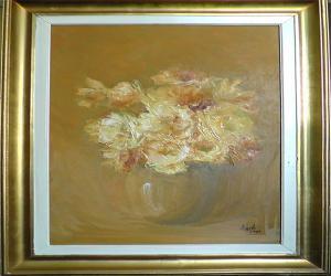 Blumen in vase Pastell I